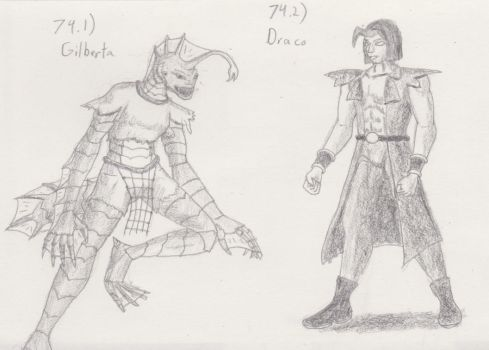 Figure 74 - Gilberta and Draco by TheHiddenElephant