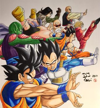 Dragonball super Universe 7 team  by Djlevi