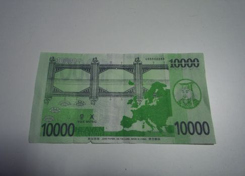 Real heaven bank note of 10000 by knight-rider-2000