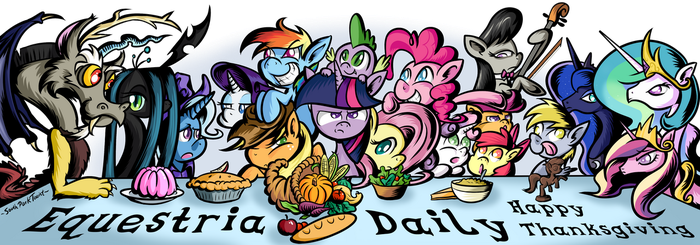 My Little Pony Thanksgiving by SouthParkTaoist