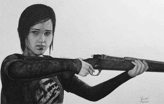 Ellie from The Last of Us realistic drawing by HabeasArt