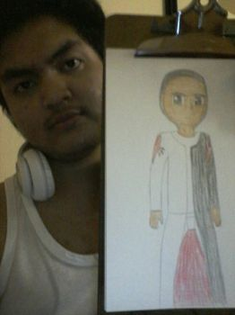 real me and Anime form by Cameronmao