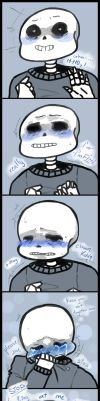 Sans? Is there something wrong? by Bunnie-Chi