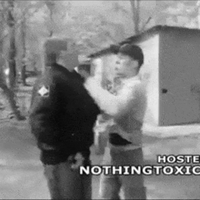 white supremacist beat down gif (nsfw) by sootyjared