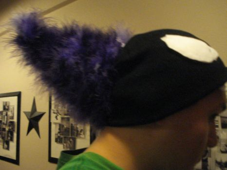 Gastly hat side view by tirfale