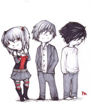 deathnote trio by NotTheNicest