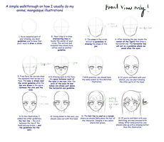 Head Tutorial : Front View by anirhapsodist