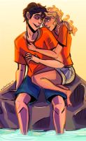 Percabeth Re draw by illustrationrookie