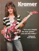 Old Van Halen Guitar Ad by Losey
