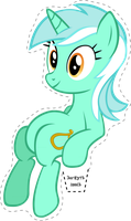 Lyra Sitting Vector Own Sitting Lyra by antoxa2584