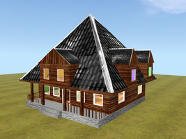 Enterable wooden house FH mesh by wolf-NaKomis