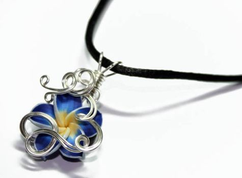 Tropical Flower PERFUME Pendant by Create-A-Pendant