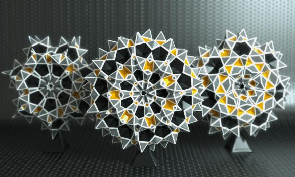 Dodecahedron Radial Starz by LuxXeon