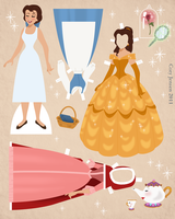 Belle Paper Doll Download by Cor104