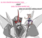 starscream it'sokay if you wanna touch by CandycaneMiscreant