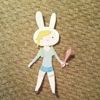 fionna the human (paper cut out) by purplepandalover5