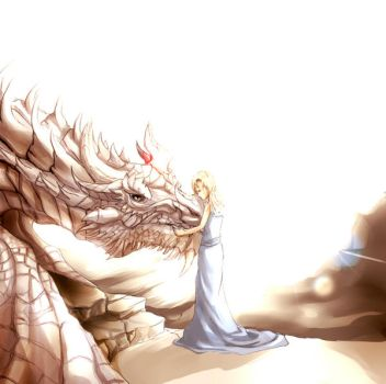 Kissing Paarthurnax by SatanielZ