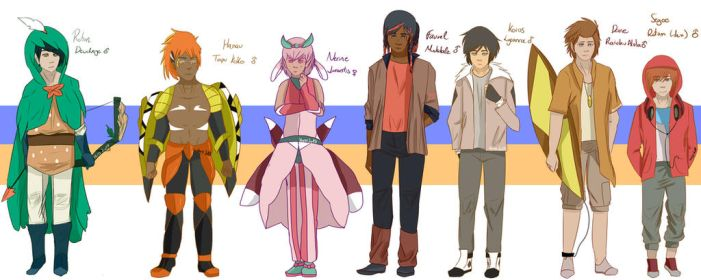 Alola team gijinka by the-guardian358