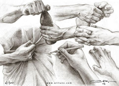 hand sketches by ali-tunc