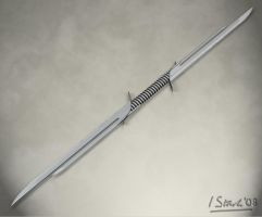 Two Bladed Sword by iainstark
