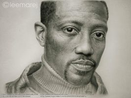 Wesley Snipes graphite portrait by leemarej