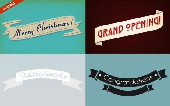 Sample ribbons by Pixelflakes