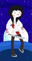 Jeff the Killer in Adventure Time Style by Menathehedgehog