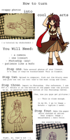 tutorial: low-res photos to hi-res lines! by chibichobit