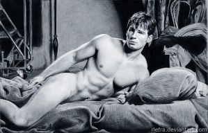 Male Model Drawing by riefra