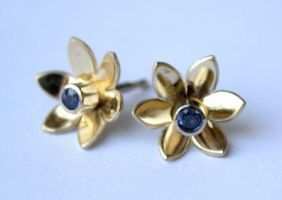 Flower Earrings by Tzel-ha-Lyla