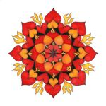 Burning Love Mandala by Lydiasdrawingboard