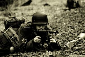 German With MP40 by m4sherman