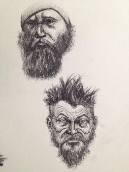 Beard sketch by Farlatattoo
