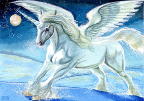 ACEO Across Frozen Lands by DawnUnicorn