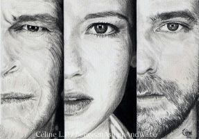 Fringe cast, in pencil by BetweenAsleepAndWake
