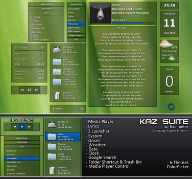WIP Kaz Suite for Rainmeter (Preview) by kaz28100