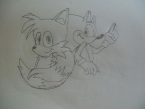Drawing: Sonic and Tails by TheSonicfan8
