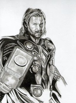 THOR - THE GOD OF THUNDER by adamreese2006