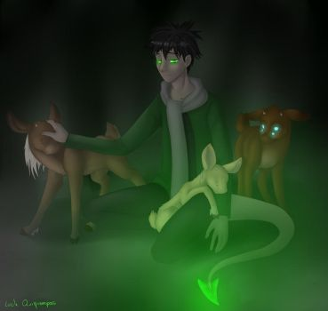 Mori and baby shifters by Mioumioune