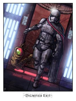 Dignified Exit - Phasma's Escape by JoeHoganArt