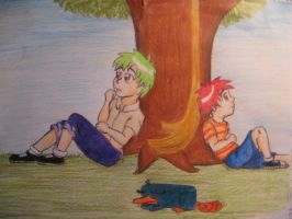Phineas and Ferb by vespa-woman
