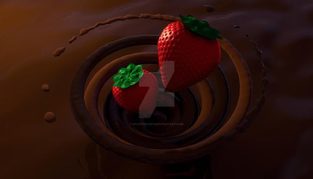 Strawberries and Chocolate by Mysterio2013