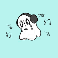 Sad Ghost. by Weeabob
