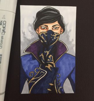 Emily Kaldwin Sketch Card by ghoulsandgals