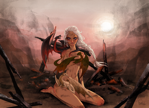 Mother of Dragons by babsdraws