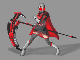 COMMISSION: Kamen Rider Ruby by RamenDriver