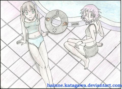 an afternoon at the pool by Hainne-Katagawa