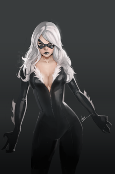 Black cat fanart by blackstyluss