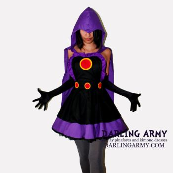 Raven Teen Titans Cosplay Pinafore by DarlingArmy
