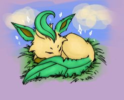 Shiny Leafeon has appeared by Silver-she-wolf-14